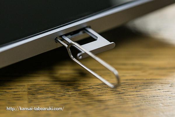iPhoneのカードスロット