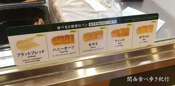 パンの選択
