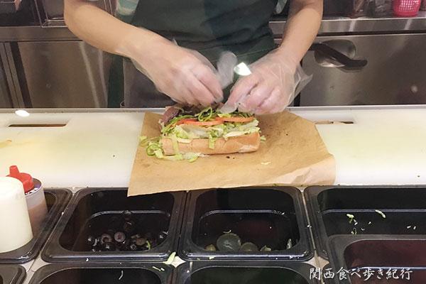 サンドイッチを手作り