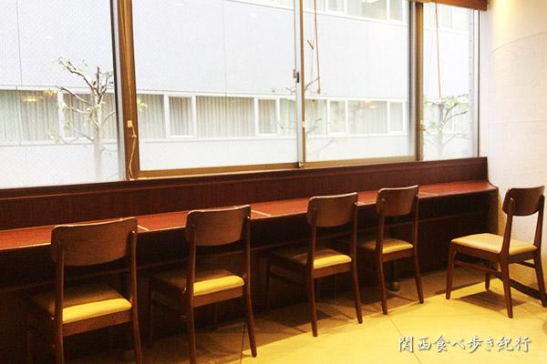 2階のカウンター席
