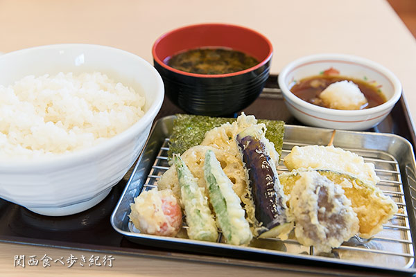 野菜たっぷり天ぷら定食