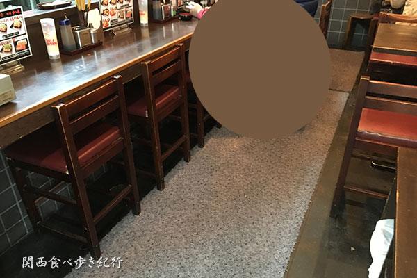 たこ焼十八番西中島本店の店内