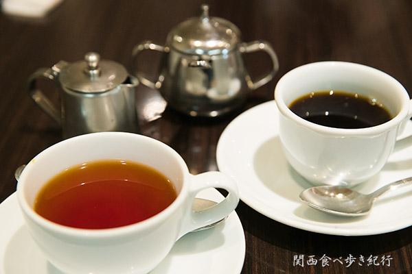 食後の珈琲と紅茶