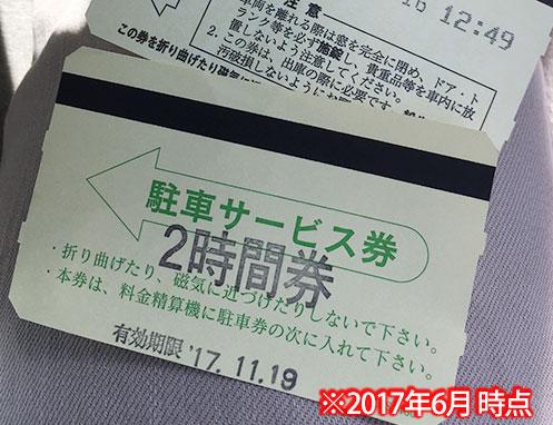 駐車サービス券