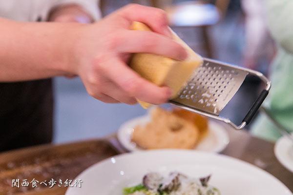 チーズをスライス