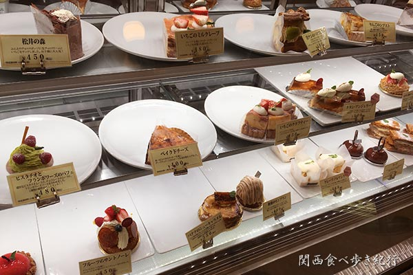 パティスリー・ナチュール・シロモトのケーキ