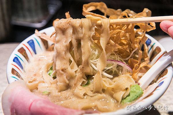 にぼし吟醸nigoriの平打ち麺
