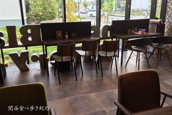 イートインできるカフェ席