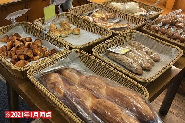 店内のパン販売