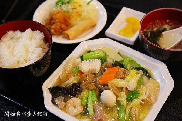 遙華の八宝菜定食