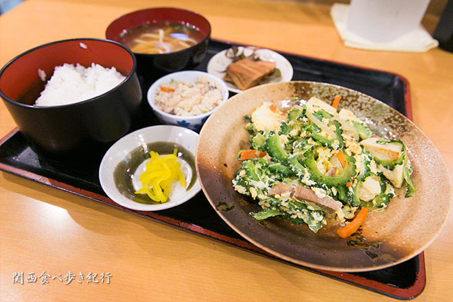 OKINAWAのゴーヤチャンプルー定食