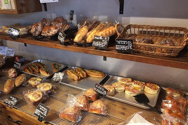 ペサの店内のパン販売の写真