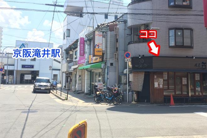 滝井駅前の麺匠 而今の場所